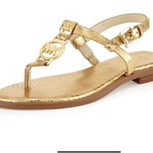 MICHAEL Michael Kors sondra gold sandal size 8.5